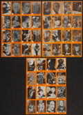 "Non-Sport Cards:Sets, 1961 Nu-Cards ""Horror Monsters"" Second Series Run (#'s 99 - 146) -Three Uncut Sheets. ..."