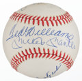 Baseball Collectibles:Balls, 1990's Triple Crown Winners Multi Signed Baseball With Mantle, Yaz,Robinson & Ted Williams. ...