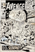 Original Comic Art:Covers, Sal Buscema and Sam Grainger Avengers #72 Cover Original Art(Marvel, 1970)....