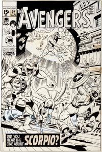 Sal Buscema and Sam Grainger Avengers #72 Cover Original Art (Marvel, 1970)