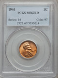 Lincoln Cents: , 1944 1C MS67 Red PCGS. PCGS Population (222/0). NGC Census:(459/0). Mintage: 1,435,399,936. Numismedia Wsl. Price for prob...
