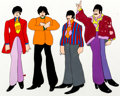 Animation Art:Production Cel, Beatles Yellow Submarine John, Paul, George, and RingoPreliminary Color Model Cel (United Artists/King Features, ...