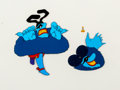 Animation Art:Production Cel, Beatles Yellow Submarine Blue Meanie Production Cel Setup(United Artists/King Features, 1968).... (Total: 3 Items)