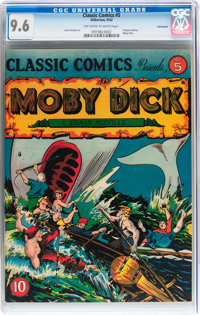 Classic Comics #5 Moby Dick - Original Edition - Vancouver pedigree (Gilberton, 1942) CGC NM+ 9.6 Off-white to white pag...