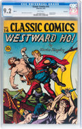 Golden Age (1938-1955):Classics Illustrated, Classic Comics #14 Westward Ho - Original Edition - Vancouver pedigree (Gilberton, 1943) CGC NM- 9.2 White pages....