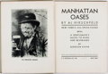 Books:Americana & American History, Al Hirschfeld. SIGNED. Manhattan Oases: New York's 1932Speak-Easies. New York: E.P. Dutton & Co., [1932]. Firstedi...