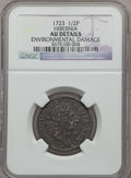 Colonials: , 1723 1/2P Hibernia Halfpenny -- Environmental Damage -- NGCDetails. AU. NGC Census: (6/118). PCGS Population (35/272). ...