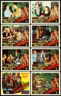 "Movie Posters:Film Noir, Crossfire (RKO, 1947). Title Lobby Card and Lobby Cards (5) (11"" X14"").. ... (Total: 6 Items)"