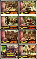 "Movie Posters:Horror, The Hunchback of Notre Dame (RKO, 1939). Lobby Card Set of 8 (11"" X14"").. ... (Total: 8 Items)"
