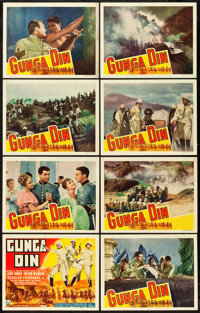 "Gunga Din (RKO, 1939). Lobby Card Set of 8 (11"" X 14""). ... (Total: 8 Items)"