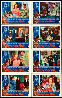 """Out of the Past (RKO, R-1953). Lobby Card Set of 8 (11"""" X 14""""). ... (Total: 8 Items)"""