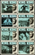 """Movie Posters:Horror, King Kong (RKO, R-1952). Lobby Card Set of 8 (11"""" X 14"""").. ... (Total: 8 Items)"""