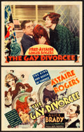 "Movie Posters:Musical, The Gay Divorcee (RKO, 1934). Title Lobby Card and Lobby Card (11""X 14"").. ... (Total: 2 Items)"