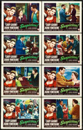 "Movie Posters:Hitchcock, Suspicion (RKO, R-1953). Lobby Card Set of 8 (11"" X 14"").. ...(Total: 8 Items)"