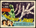 "Movie Posters:Horror, I Walked with a Zombie (RKO, 1943). Title Lobby Card (11"" X 14"")....."