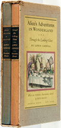 Books:Literature 1900-up, [John Tenniel, illustrator]. Lewis Carroll. Alice's Adventuresin Wonderland [and:]Through the Looking Glass. ...(Total: 2 Items)