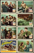 "Movie Posters:Hitchcock, Lifeboat (20th Century Fox, 1944). Lobby Card Set of 8 (11"" X14"").. ..."