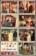 "Movie Posters:Academy Award Winners, All About Eve (20th Century Fox, 1950). Lobby Card Set of 8 (11"" X14"").. ... (Total: 8 Items)"