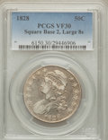 Bust Half Dollars: , 1828 50C Square Base 2, Large 8s VF30 PCGS. PCGS Population(9/135). NGC Census: (0/0). ...
