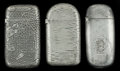 Silver Smalls:Match Safes, THREE GORHAM SILVER-PLATED MATCH SAFES, Providence, Rhode Island,circa 1883. Marks to all: (anchor), GORHAM CO., 060; 030...(Total: 3 Items)