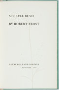Books:Literature 1900-up, Robert Frost. SIGNED/LIMITED. Steeple Bush. New York: HenryHolt, 1947. First edition, limited to 751 numbered copie...