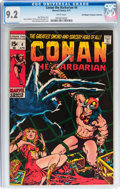 Bronze Age (1970-1979):Adventure, Conan the Barbarian #4 - Don/Maggie Thompson Collection pedigree (Marvel, 1971) CGC NM- 9.2 White pages....