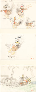Animation Art:Production Drawing, Hawaiian Holiday Donald Duck Storyboard Group (Walt Disney,1937).... (Total: 6 Original Art)