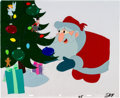 Animation Art:Production Cel, National Lampoon's Christmas Vacation Santa Production CelSetup (Warner Brothers, 1989).... (Total: 4 Original Art)