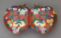 Asian:Chinese, A CHINESE CLOISONNÉ DOUBLE COVERED DISH, 20th century. 11-7/8inches long (30.0 cm). ...