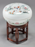 Asian:Chinese, A CHINESE FAMILLE ROSE PORCELAIN COVERED BOX, circa 1875-1908.Marks: (Guangxu six-character mark in red). 10 inches diamete...