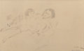 Works on Paper, JULES PASCIN (American, 1885-1930). Femme et Enfant (Mother and Child), 1929. Pencil on paper. 11-1/2 x 19 inches (29.2 ...