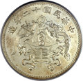 China: Republic of China. Pattern Dragon and Phoenix dollar Year 12 (1923) MS65 NGC
