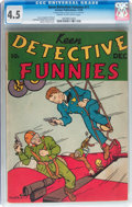 Golden Age (1938-1955):Miscellaneous, Keen Detective Funnies #11 (Centaur, 1938) CGC VG+ 4.5 Cream to off-white pages....