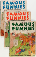 Golden Age (1938-1955):Miscellaneous, Famous Funnies Group (Eastern Color, 1936-39) Condition: Average GD.... (Total: 5 Comic Books)