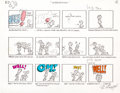 "Animation Art:Production Drawing, Schoolhouse Rock ""Interjections!"" Storyboards (Walt Disney,1974).... (Total: 6 Original Art)"