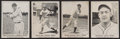 Baseball Cards:Lots, Very Rare 1939 Father & Son Shoes Baseball Cards Group (4). ...