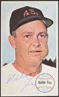 Autographs:Sports Cards, Signed 1964 Topps Giants Nellie Fox #13. ...