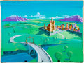 Animation Art:Production Drawing, Tubby the Tuba Background Painting (Avco Embassy, 1975)....