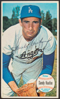 Autographs:Sports Cards, Signed 1964 Topps Giants Sandy Koufax #3. ...