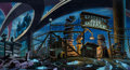 Animation Art:Production Drawing, The Real Ghostbusters Hand-Painted Background Concept Art(DIC, 1986)....