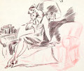 Animation Art:Production Drawing, Disney Women Life Drawing Group (Walt Disney, 1940s).... (Total: 4Original Art)