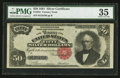 Large Size:Silver Certificates, Fr. 334 $50 1891 Silver Certificate PMG Choice Very Fine 35.. ...