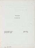 Books:Horror & Supernatural, [Screenplay]. Stephen King. The Dead Zone. Second draftscreenplay. April 7, 1982. [bound with:] Cujo. First...