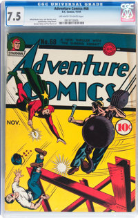 Adventure Comics #68 (DC, 1941) CGC VF- 7.5 Off-white to white pages