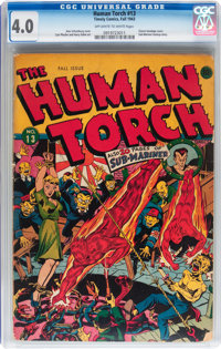 The Human Torch #13 (Timely, 1943) CGC VG 4.0 Off-white to white pages