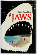 Books:Literature 1900-up, Peter Benchley. Jaws. London: Andre Deutsch, 1974. FirstEdition. Publisher's binding with original dust jacket....