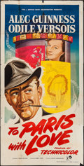 "Movie Posters:Comedy, To Paris with Love (Rank, 1955). British Three Sheet (40"" X 78""). Comedy.. ..."