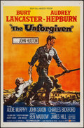 """Movie Posters:Western, The Unforgiven (United Artists, 1960). One Sheet (27"""" X 41"""").Western.. ..."""