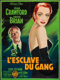 """The Damned Don't Cry (Warner Brothers, 1951). French Grande (47"""" X 60.5""""). Film Noir"""