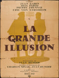 "Movie Posters:War, La Grande Illusion (Cinedis, R-Late 1940s). French Grande (47"" X62.5""). War.. ..."